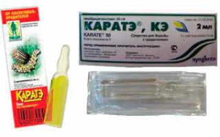 Каратэ: инструкция по применению, отзывы, хранение препарата